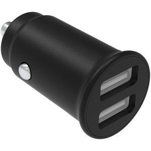 Billaddare USB12-24V 4.8A, Svart