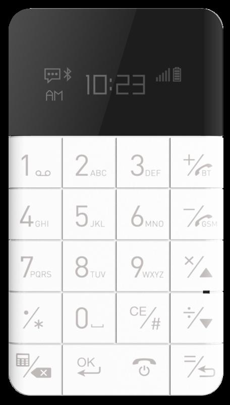 bild 1 av ELARI CARDPHONE Supertunn anti-smartphone som väger endast 42g