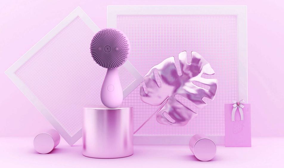 bild 1 av Ansiktsborste Ruyi Silicone Lavender