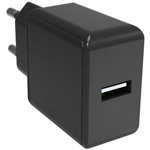 SmartLine Wall charger 1xUSB 2.1A 4h built in timer, black