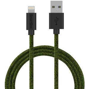 SmartLine USB cable Lightning 2m Fabric Fuzzy Green