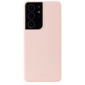 Holdit Silicone Case Galaxy S21 Ultra Blush Pink