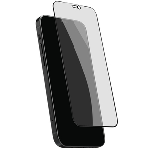 Tempered Glass iPhone 12/12 Pro Privacy 2,5D Black frame