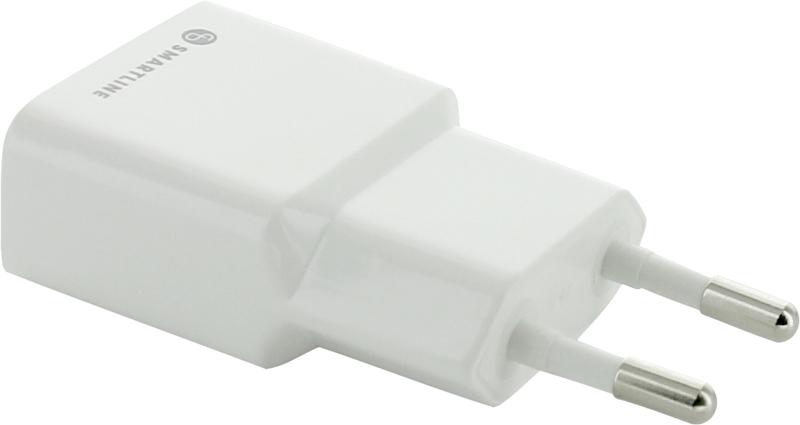 SmartLine Laddare USB Adapter 1 port 2,4A Vit