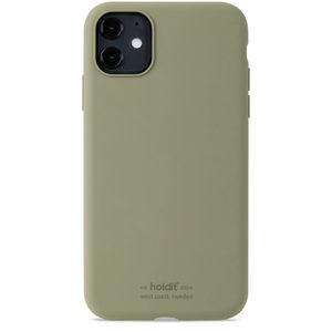 Holdit Silicone Case iPhone 11 Khaki Green