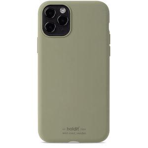 Holdit Silicone Case iPhone 11 Pro Khaki Green