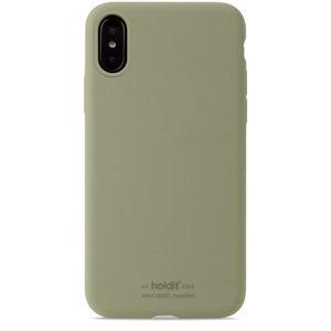 Holdit Silicone Case iPhone X/Xs Khaki Green
