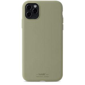 Holdit Silicone Case iPhone 11 Pro Max Khaki Green