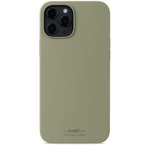 Holdit Silicone Case iPhone 12 Pro Max Khaki Green