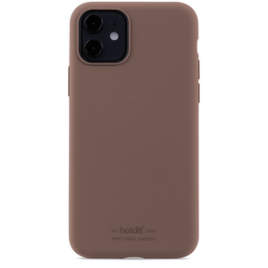 Holdit Silicone Case iPhone 11 Dark Brown