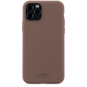 Holdit Silicone Case iPhone 11 Pro Dark Brown
