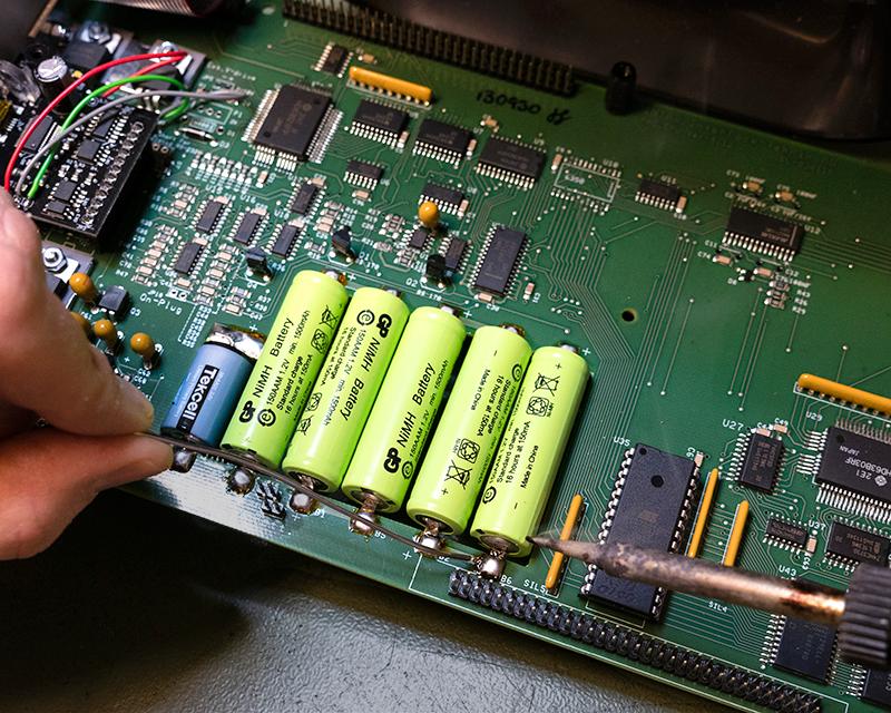 Batteribyte PC-logger, inklusive batterier