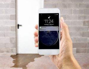 SMS-larm för vattenläckage