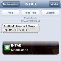 SMS-larm och e-postlarm (per kanal)
