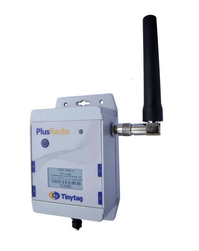Tinytag Plus Radio två givare för temperatur och relativ luftfuktighet