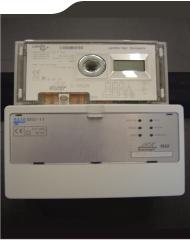 En bild på en fjärravläst mätare med Terminal typ MSI-11.
