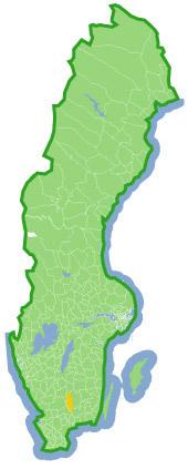 En bild på Sveriges karta.