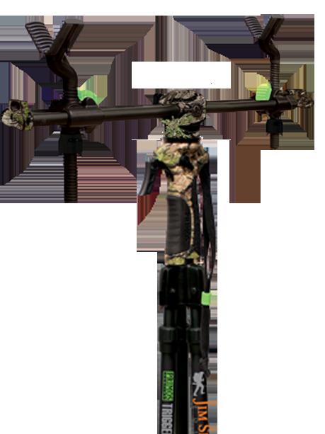Primos 2-Point Gun Rest, Dubbla klykfästen till Triggerstick