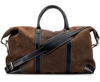 Baron Weekend Bag - Brown Suede