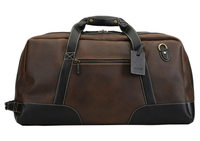 Baron Duffel Bag Large - Brown Suede