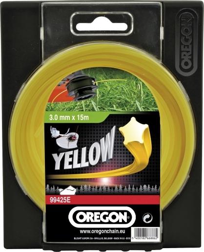 Trimmertråd 15 m, 2.0 mm Yellow, Oregon