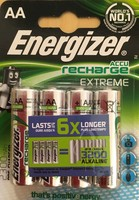 Energizer AA  Laddningsbara 4-pack
