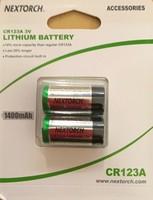 Nextorch CR123A 3V 2-pack