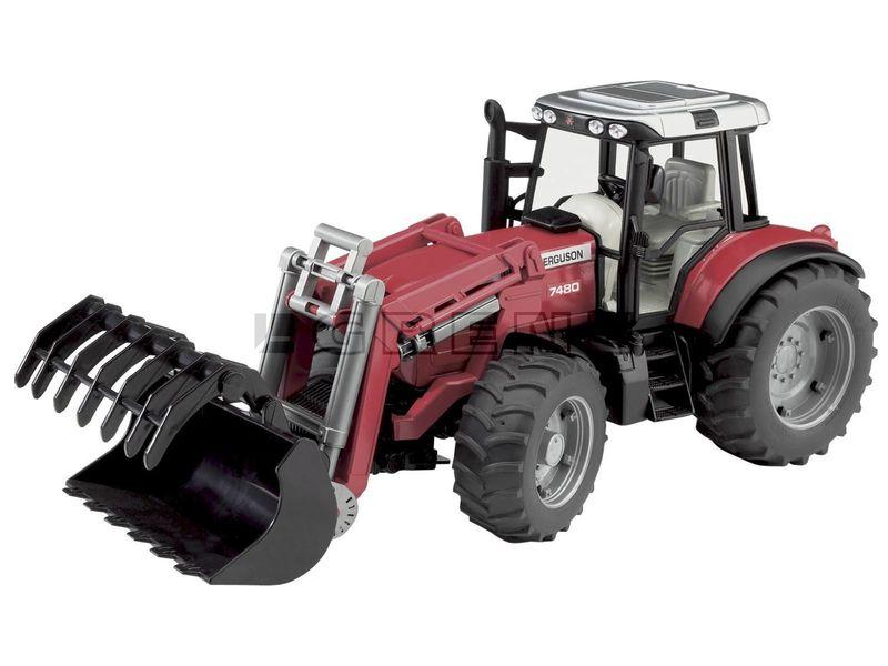 Traktor Massey Ferguson 7480 med frontlastare, Leksak