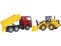 Lastbil MAN med Tippflak samt Hjullastare, Leksak