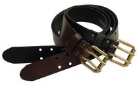 Läderbälte 40 mm Pinewood - Brun