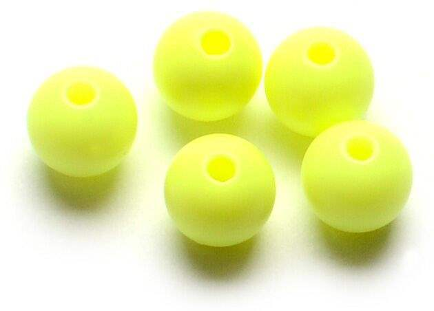 Darts Plastic Beads Chartreuse - 6 mm