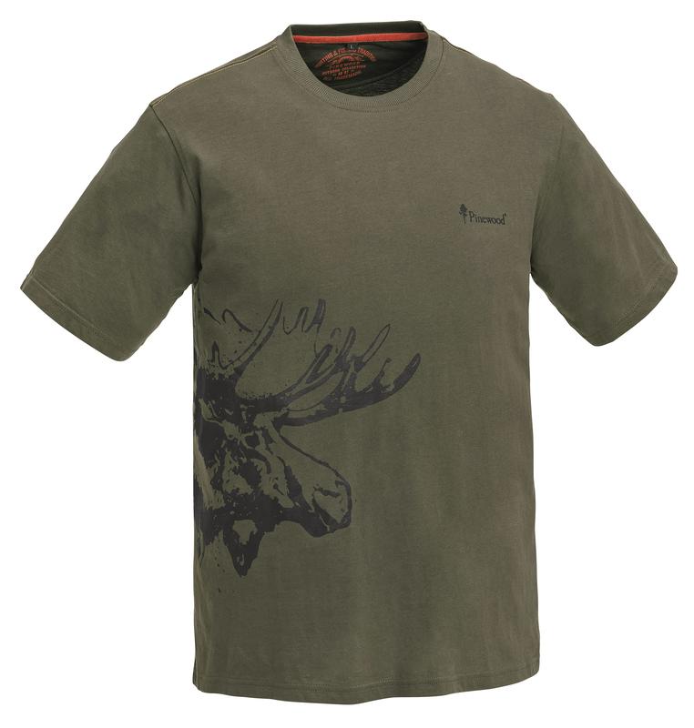 Moose T-Shirt Pinewood Barn - Khakigrön