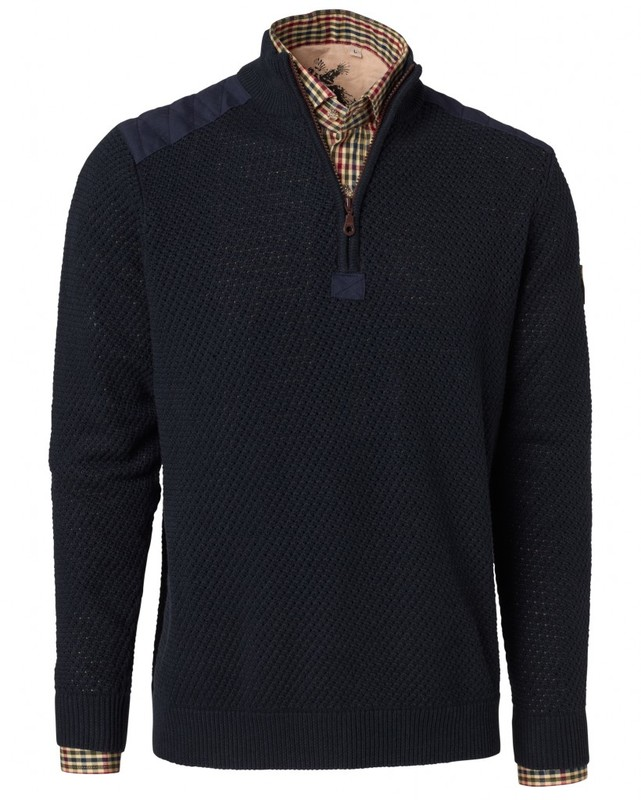 Gabriel Cotton Pullover Chevalier - Navy