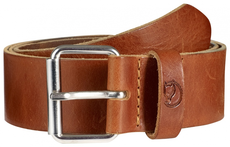 Singi Belt 4 cm Fjällräven - Leather Cocnac