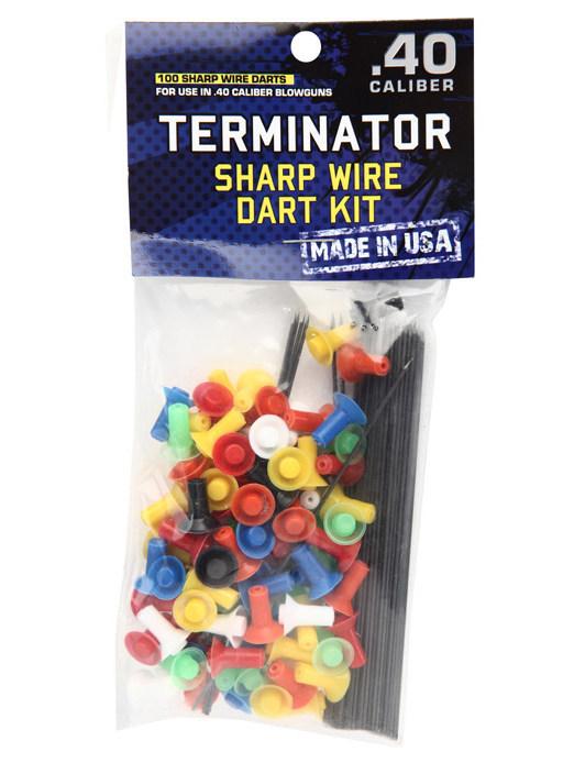 Blåsrörspilar Terminator 100 pack