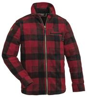 Kanada Fleeceskjorta Barn Pinewood - Röd/Svart