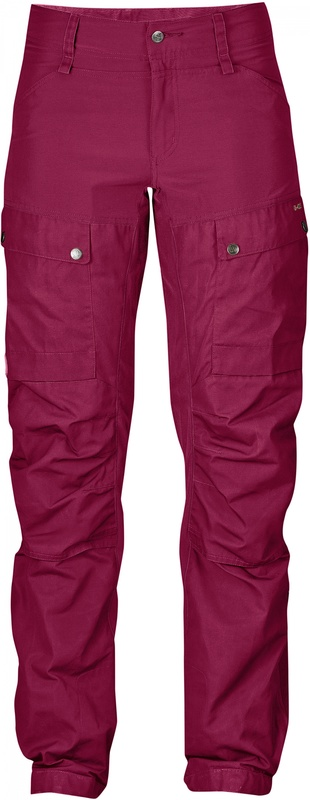 Keb Trousers Curved W Regular Fjällräven - Plum