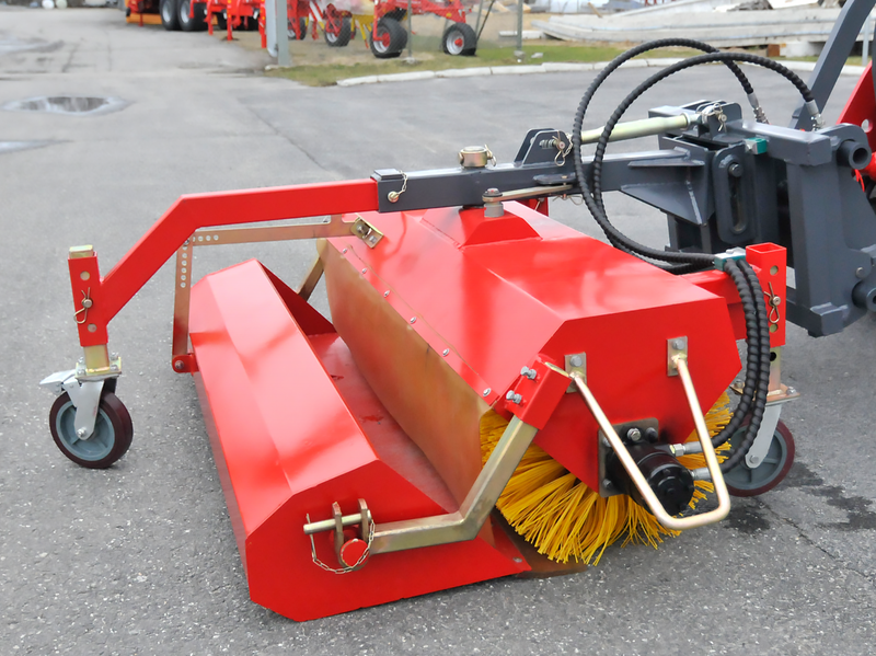 Sopvals 150cm uppsamlingsskopa och stödhjul, Trima/SMS fäste
