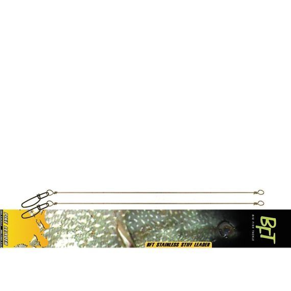 BFT Stiff Jerkbait Leader 30 Cm Stainless 2-Pack