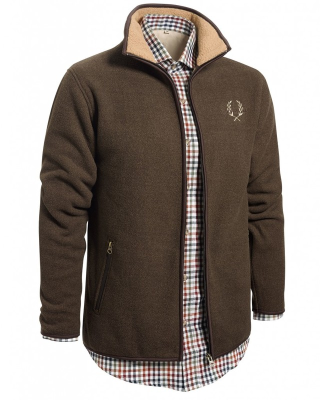 Mainstone Fleece Cardigan Chevalier - Brown