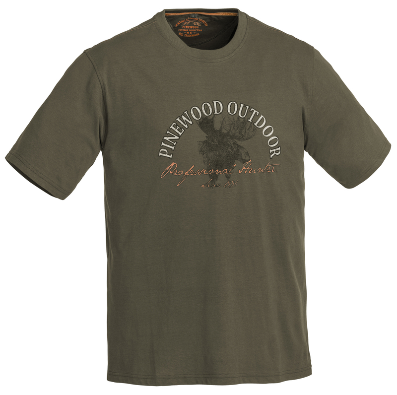 Moose T-Shirt Pinewood - Khakigrön