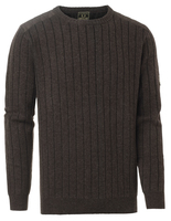 Fjord Plated RN Sweater Chevalier - Brown