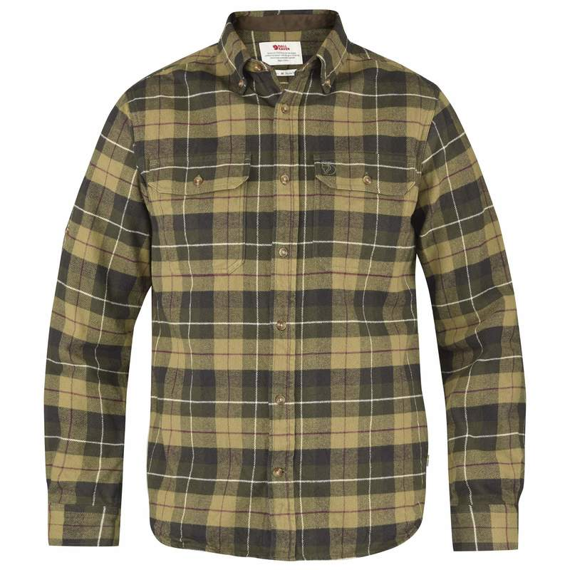 Singi Heavy Flannel Shirt M Fjällräven - Green