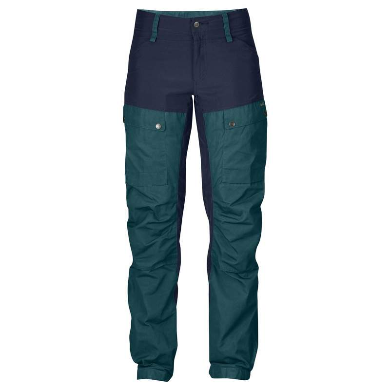Keb Trousers Curved W Regular Fjällräven - Glacier Green