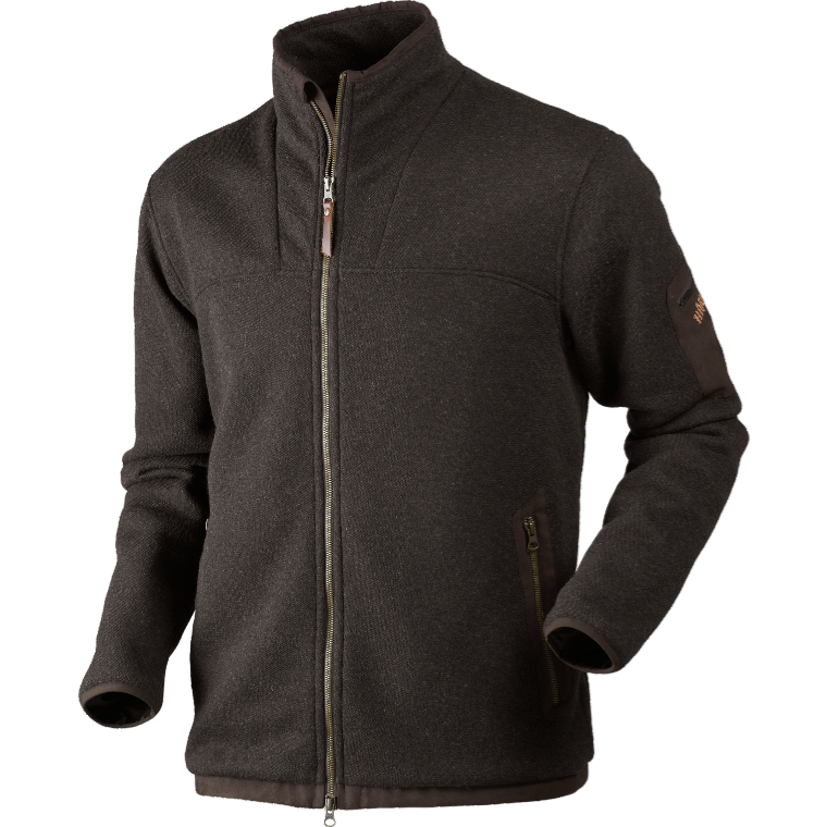 Norja HSP Cardigantröja Full Zip Härkila - Shadow Brown Melang