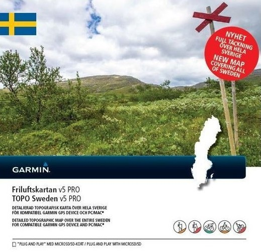 Friluftskartan V.5 Pro Sverige Garmin