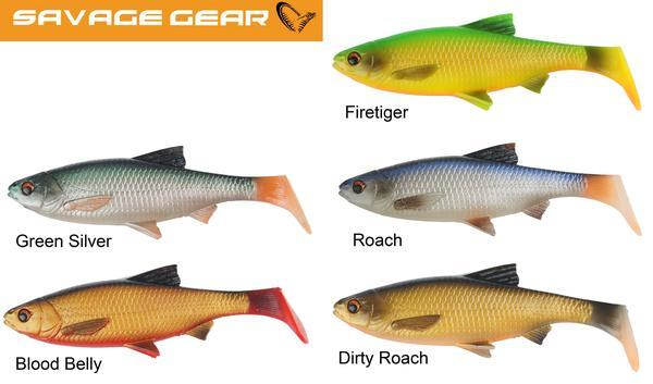 3D River Roach Paddletail 22 cm Savage Gear 2-pack