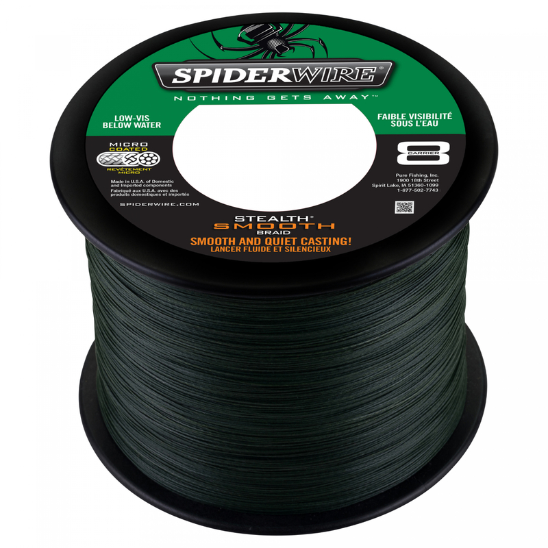 Spiderwire Stealth Smooth 0,17mm Bulk 3000m Green