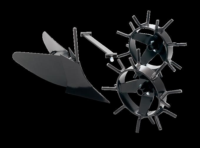 Husqvarna Plog med metallhjul för Jordfräs