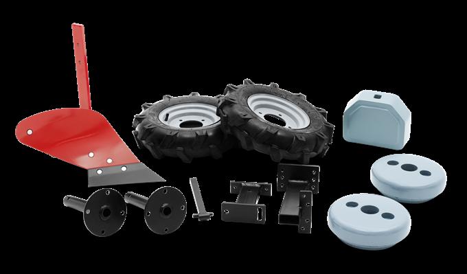 Husqvarna Plog med gummihjul och hjulvikter till Jordfräs